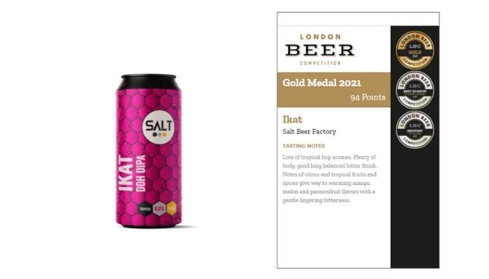 Ikat Salt Beer Factory Gold Medal Brewery of the year