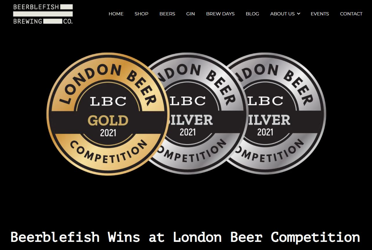 Beerblefish Wins at London Beer Competition