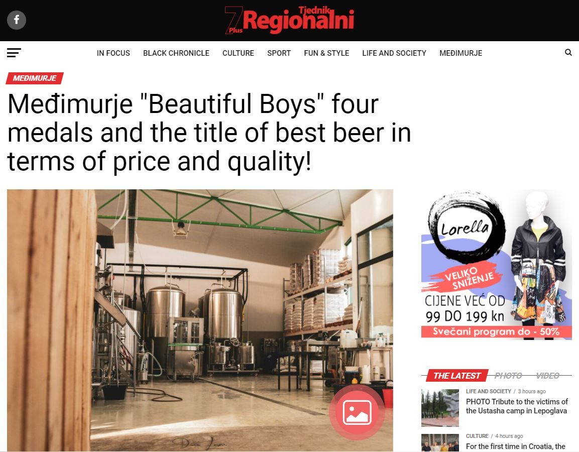 """Međimurje """"Beautiful Boys"""" Four Medals And The Title Of Best Beer In Terms Of Price And Quality!"""