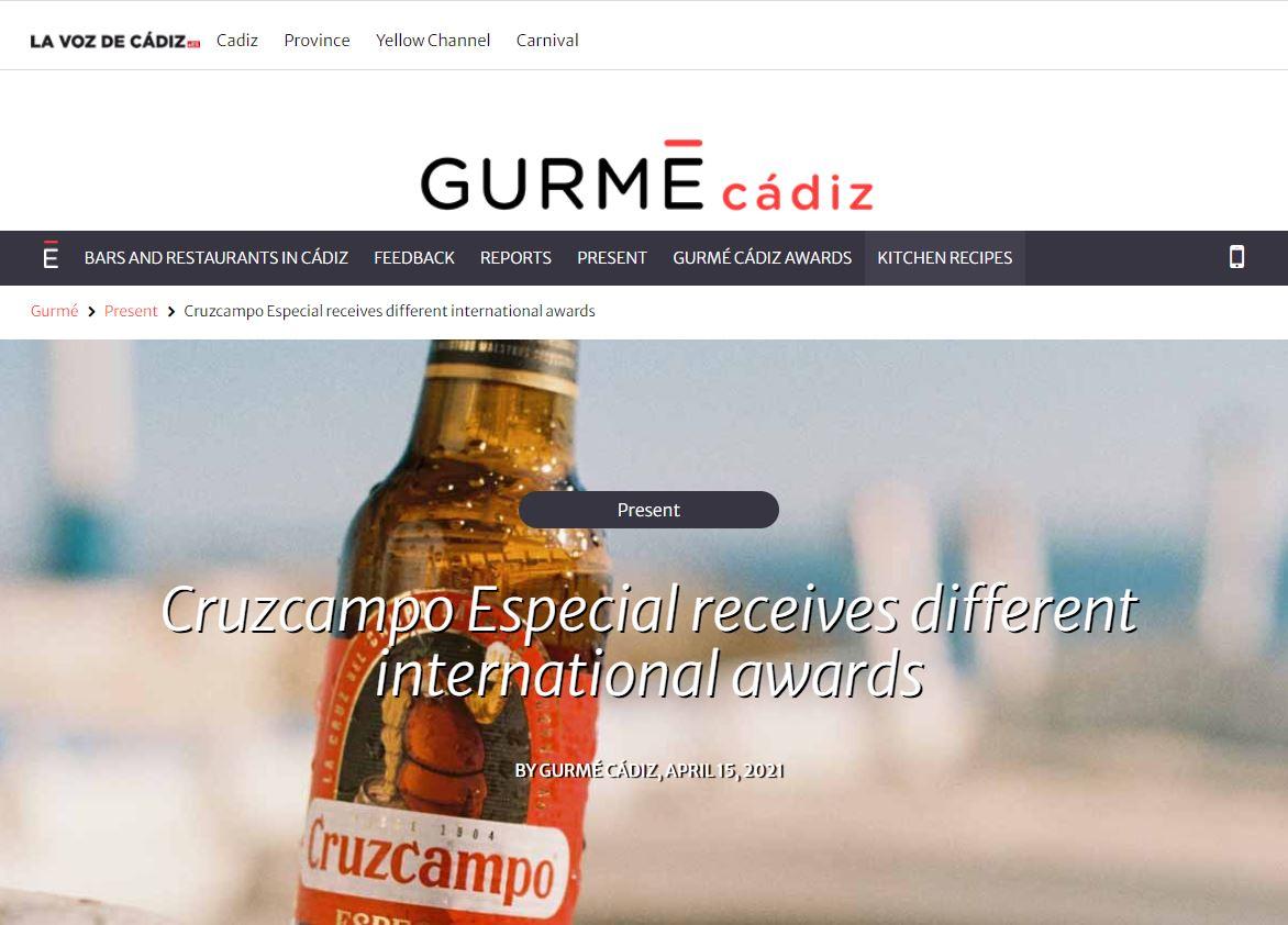 Cruzcampo Especial Receives Different International Awards