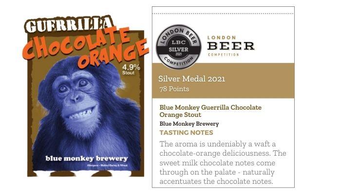 Blue Monkey Guerrilla Chocolate Orange Stout by Blue Monkey Brewery