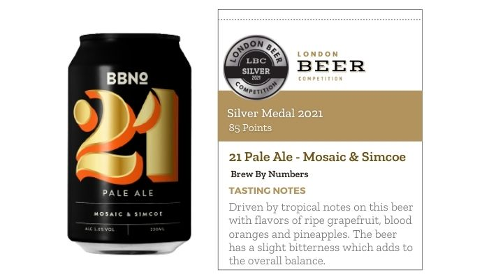 21 Pale Ale - Mosaic & Simcoe by Brew By Numbers