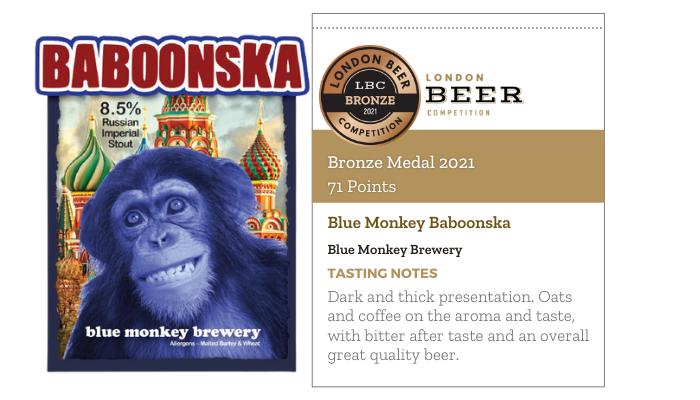 Blue Monkey Baboonska by Blue Monkey Brewery
