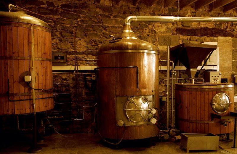 Brewing process at Vic Brewery